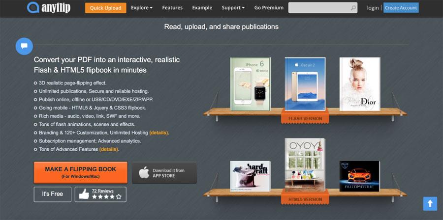 AnyFlip free flip book maker